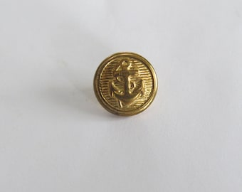 Button * vintage round gold patterned anchor (set of 4)