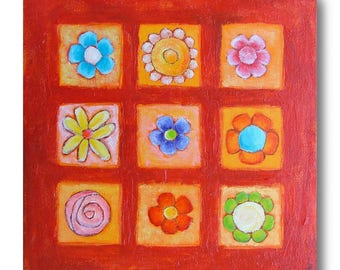 painting on canvas flower Collection