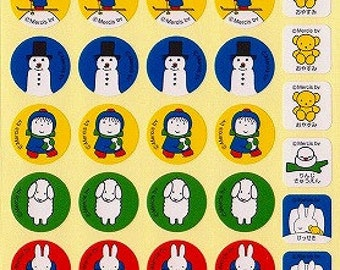Miffy Stickers - Style 2 - Small Schedule Planner Stickers - Reference A6335