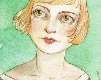 It Was As If, Very Faintly, She Could Hear the Sea -- ACEO Limited Edition Print by Amy Abshier Reyes 7\/30