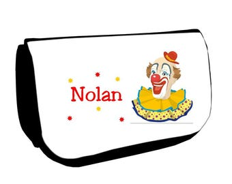 Black /crayons Clown Makeup case personalized with name