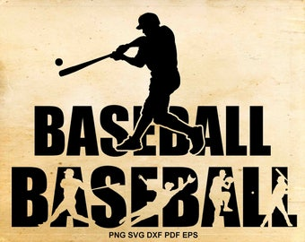Baseball svg files, Baseball silhouette clipart, Baseball svg, Shirt design, Iron on designs,  Cut files for Cricut, Files for Silhouette