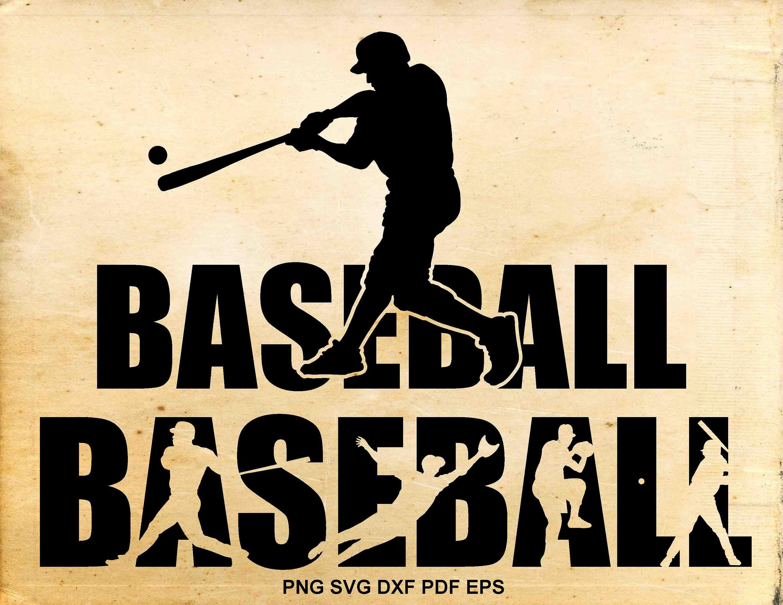 Baseball svg files, Baseball silhouette clipart, Baseball ...