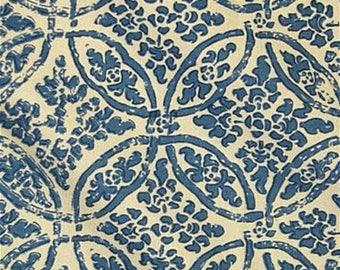 Designer Pillow Cover - Lumbar, 16 x 16, 18 x 18, 20 x 20, 22 x 22, Euro - MDLA Batik Medallion - Indigo