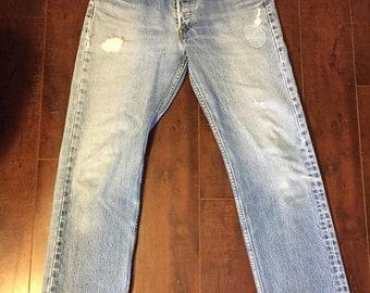 Closing Shop SALE 501s jeans, 501 button up levi's waist W 31