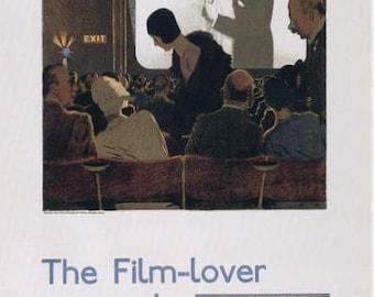 The Film Lover Movie Film Poster Print -   1920s