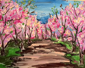 Spring Orchard - acrylic on canvas