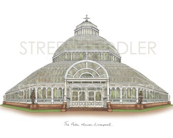 The Palm House, Liverpool Stretched Canvas