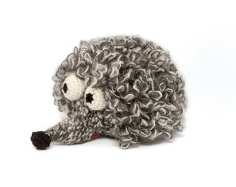 Ready to ship - Hedgehog, soft toy, knitted Hedgehog, children's toy, decoration, birthday present