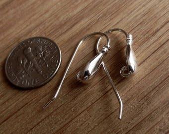 Luxury, Sterling Silver, Hooks, Earrings, Ear wires, Findings, Dangle, Dangling, Hook Earrings, Open Ring, High Quality