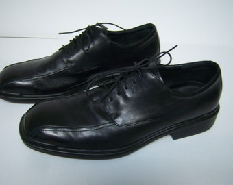 Men's Leather Rockport Shoes,Retro Square Toes, Size 12 M, Black Leather  Uppers