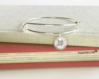 Book Lover Charm Bracelet - Book Charm Bracelet - Reader Charm Bracelet - Book Lover Bracelet - Book Jewelry - Book Gift -   (S7444)