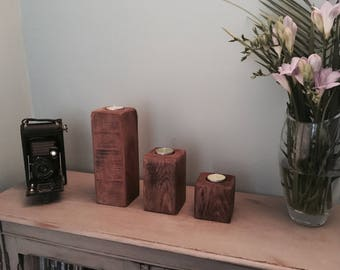 Bloxie Candle Holders