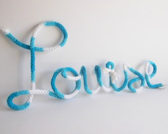 Baby name sign wire decor, Custom name art, Wire word art, Personalized name nursery decor, Baby name decor, Nursery name sign, Wire name
