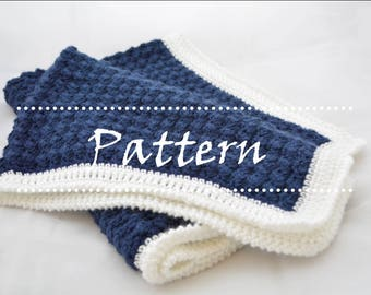 Johnny Blanket Crochet Baby Blanket Pattern / Beginner Crochet Pattern / Baby Blanket Pattern