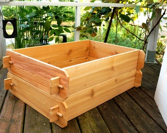 Cedar Raised Garden Bed Deep Kit (Double 2x3) - Christmas Gift for Gardener Wedding Gift for Her Housewarming Gift for Mom Dad