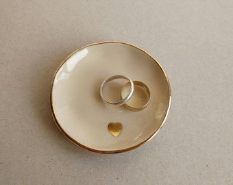 Ring Dish, Jewelry Dish, Gift For Couple, Wedding Ring Holder, Bridal Ring Holder, Wedding Gift, Pottery Gift, Anniversary Gift