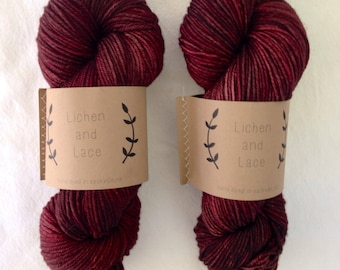 Rosewood ~ Lichen and Lace Hand Dyed Yarn