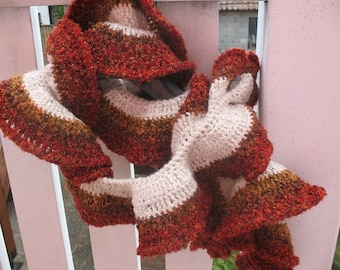 CHENILLE scarf autumn colors