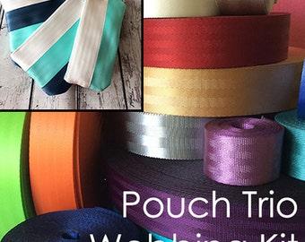 Seat Belt Webbing Kit: Pouch Trio