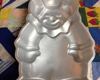 Vintage Wilton Cake Pan of a Clown 1986