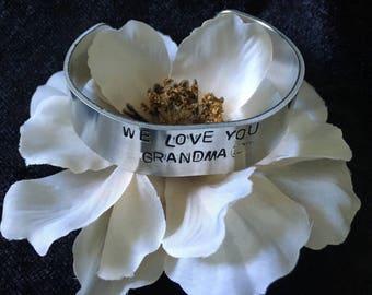 Love you Grandma  - bracelet