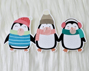 DIGITAL | DIECUTS | Winter Penguins | Christmas Penguins | Penguin Diecut | Diecut | Printable Diecut