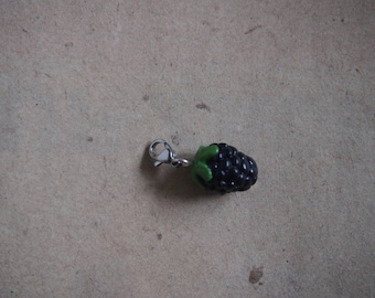 Blackberry charm pendant