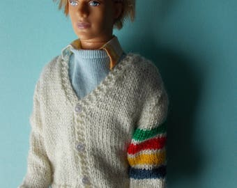 Handmade outfit cardigan available for Ken, male Fashion Royalty, bjd, Taeyang, pure neemo xs boy