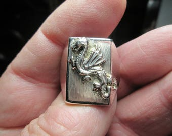 ring, sterling silver... size 10... Dragon