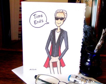 Doctor Who Card - Twelfth Doctor - Time Ends - Peter Capaldi