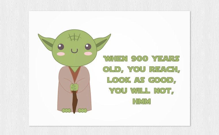 Yoda happy birthday card when 900 years old you zoom bookmarktalkfo Choice Image