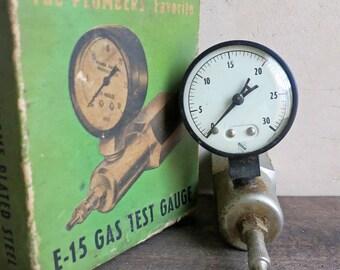 Gas Test Gauge, Ashcroft Gauge, Kiener Co Pressure Test Gauge in Original Box