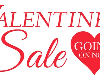 Valentine's Sale Banner with Red Heart
