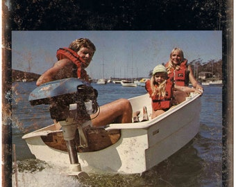 """Victa Jet Outboard Motor Vintage Boating Ad 10"""" x 7"""" Reproduction Metal Sign"""