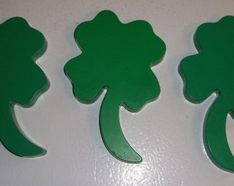 3 Tupperware Shamrock 4 leaf clover Cookie cutters