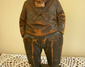 Rare Vintage C.J. Trygg Wood Carving 1928