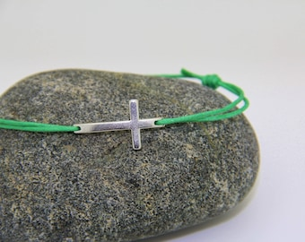 Cross colors cord bracelet