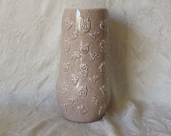 """Mid Century RED WING POTTERY Charles Murphy M-1443 8 3/4"""" Speckled Vase"""