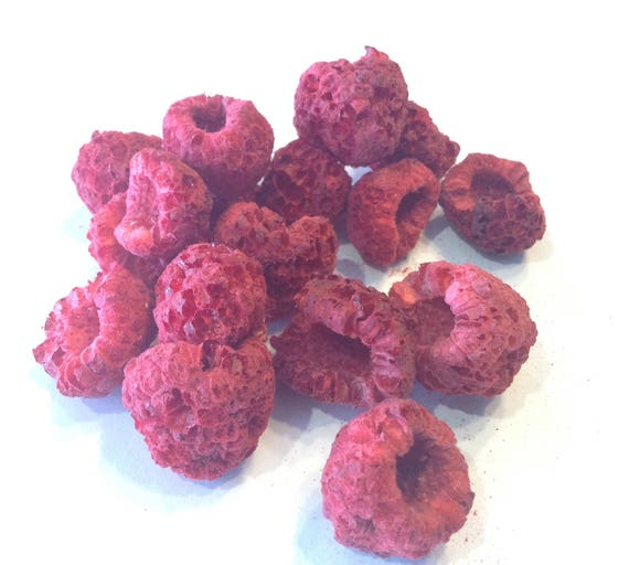 Freeze Dried Raspberry's No additives No gluten no soy no sulfites. GMO Free Survival food, camping, hiking