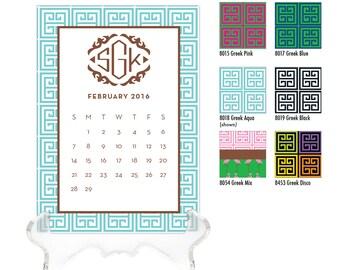 2018 Desk Calendar / Custom Calendar / Calendar with Stand / Personalized Calendar / 2019 Custom Calendar / Monogrammed Calendar / Preppy