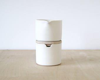 porcelain cream & sugar, prototype : SALE