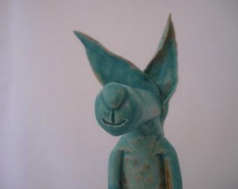 Ceramic animal, hand-made, pottery, art, gift idea.