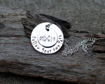Follow Your Own Path Necklace Inspirational Jewelry Personalized Necklace Inspirational Necklace Arrow Necklace Graduation Jewelry sweet 16