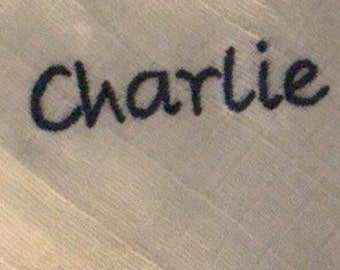 Embroidered Personalised Muslin's