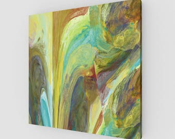 Emotions Abstract Digital Painting Canvas Print