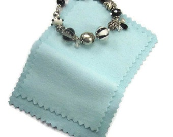Small Jewelry Polishing Cloth for Cleaning Silver Double Layer Folding