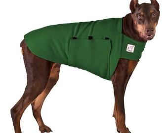 DOBERMAN PINSCHER Tummy Warmer, Dog Sweater, Fleece Dog Coat, Dog Shirt, Jackets for Dogs, Dog Vest, Dog Clothes, Dog Clothing, Dog Gifts