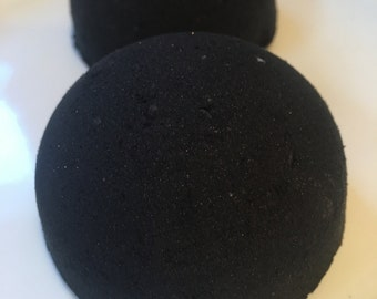 Improved recipe!  Sale!!! Black Abyss Black Bath bomb!  Blacker water, no staining  5 ounces