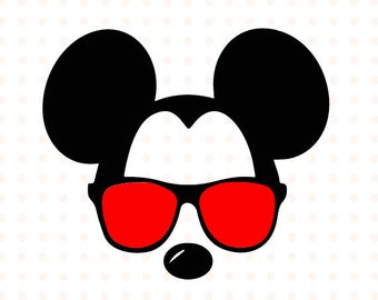 Mickey Mouse svg sunglasses, Disney Mickey Mouse sunglasses cricut silhouette svg file instant download Mickey Mouse chapter svg file